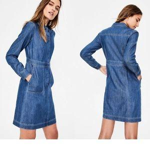 Boded denim sheath dress with pockets size 6R